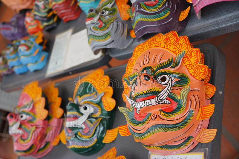 Традиционные камбоджийские маски стоковые изображения rf