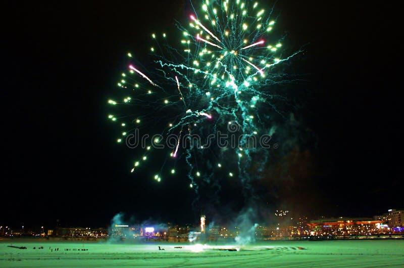 Традиционные торжества Нового Года в LuleÃ¥ стоковые изображения rf