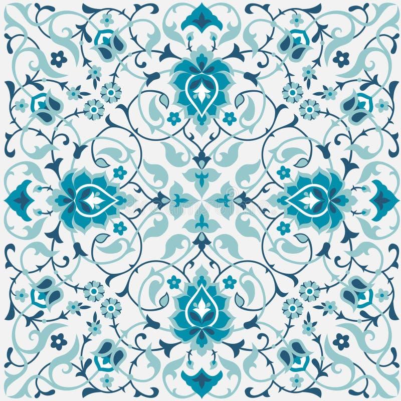 Традиционный арабский флористический дизайн иллюстрация штока