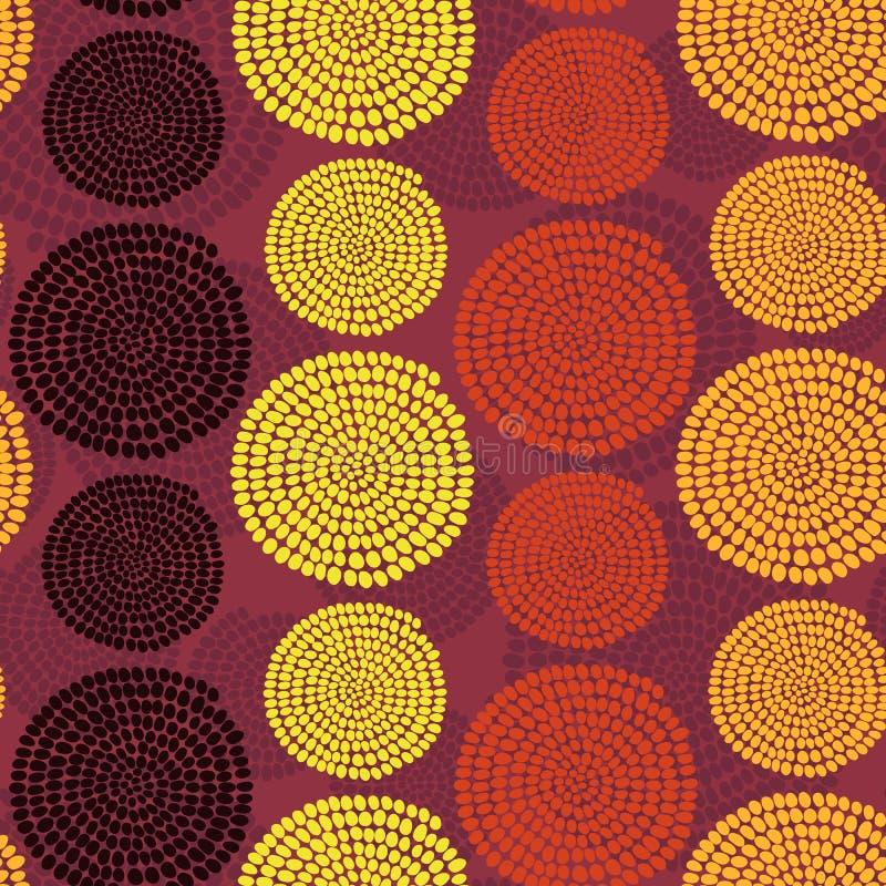 Традиционный африканский орнамент с свирлями Безшовная скороговорка вектора иллюстрация вектора
