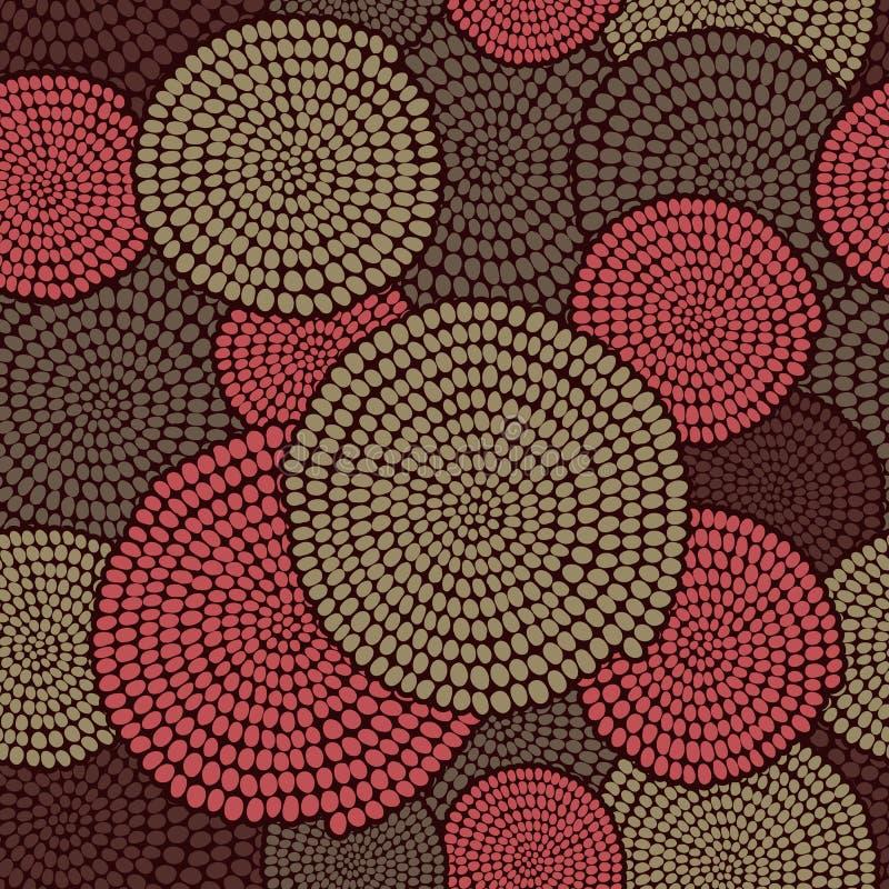 Традиционный африканский орнамент с свирлями Безшовная скороговорка вектора иллюстрация штока