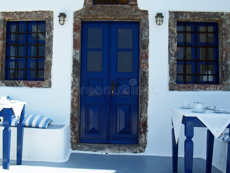 Традиционный греческий дом стоковое изображение rf