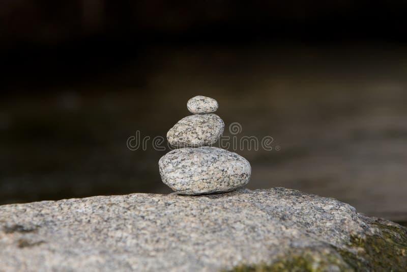 Традиционный дизайн камней Дзэн раздумья стоковая фотография