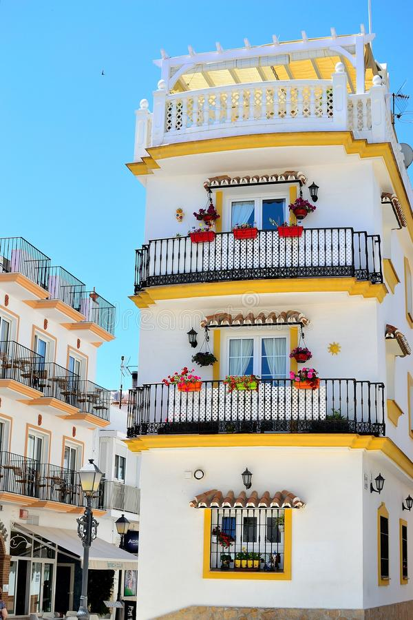 традиционный испанский дом в Torremolinos, Косте del Sol, Испании стоковое изображение rf