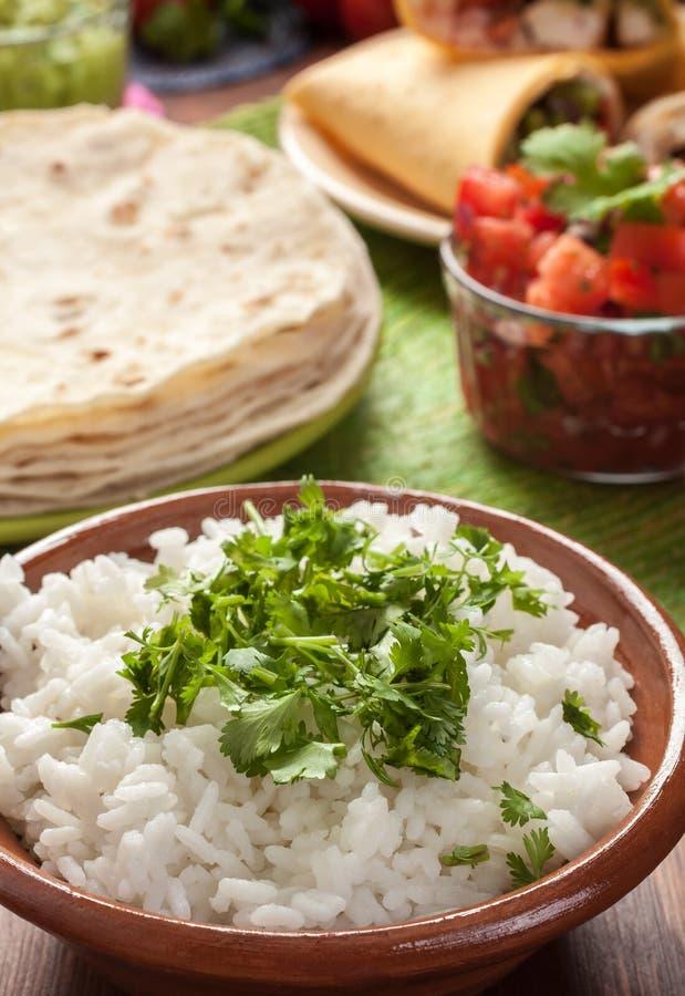 Традиционный мексиканский рис стоковые фото