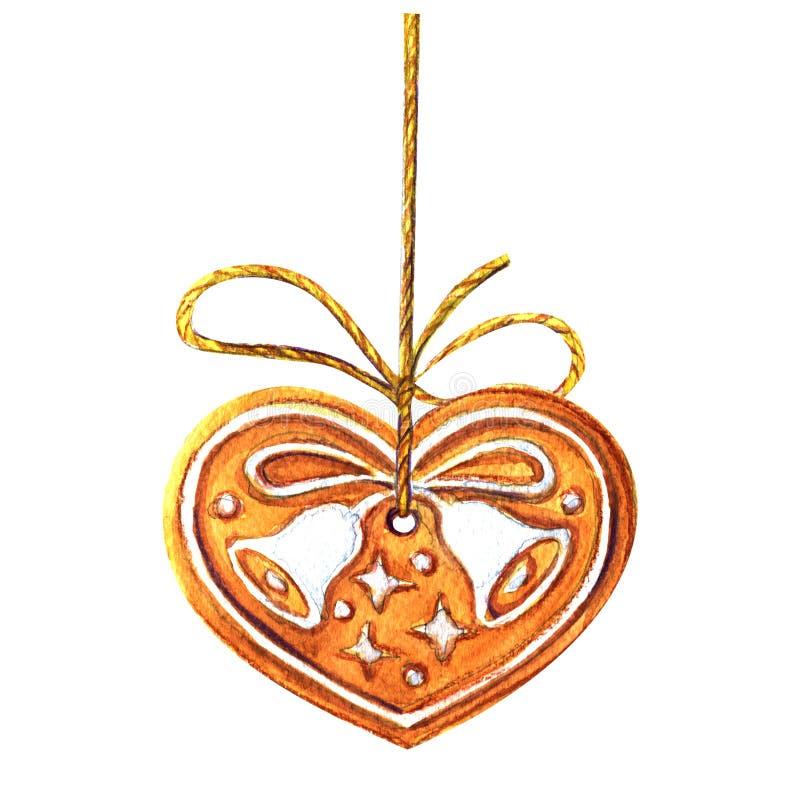 Традиционный домашний сделанный имбирь печенья рождества иллюстрация штока
