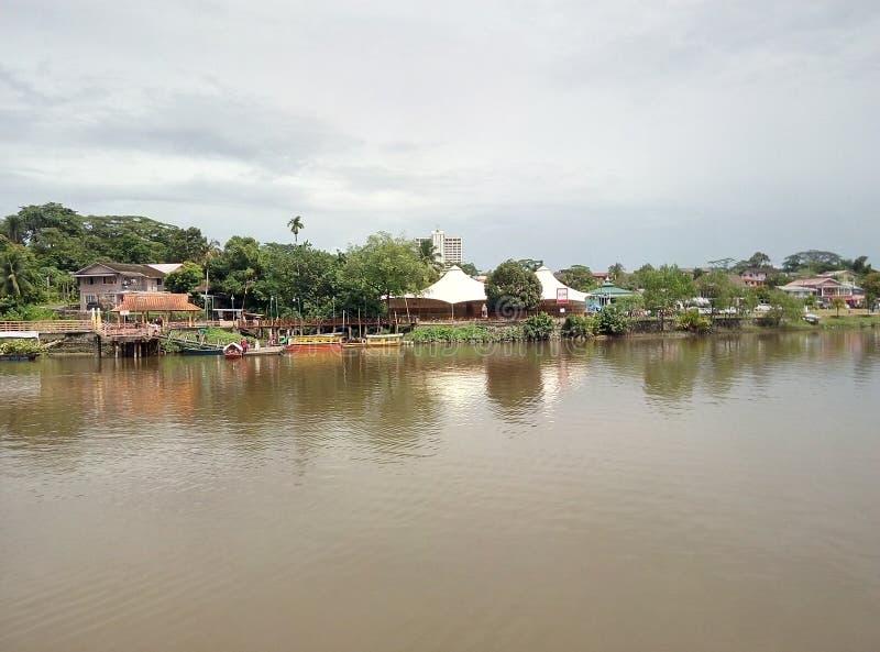 Традиционный дом kampung стоковая фотография