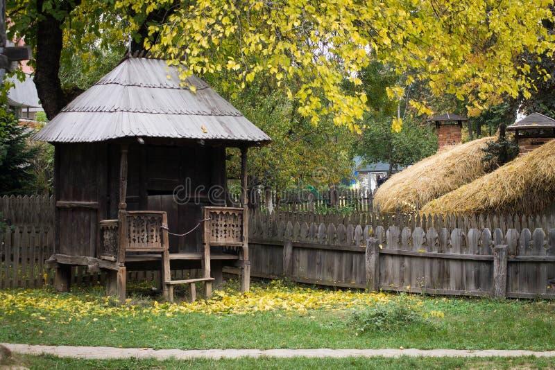 Традиционный румынский двор стоковое фото