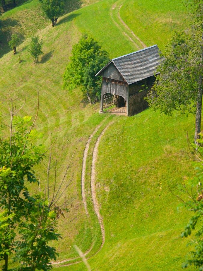 Традиционный словенский ландшафт горы стоковые фотографии rf