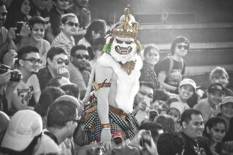 Традиционный танец балийца Hanoman стоковая фотография