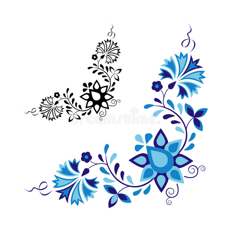 Традиционный фольклорный орнамент иллюстрация штока