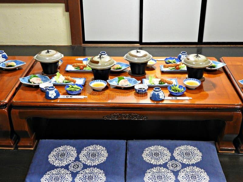 Традиционный японский обедающий, Takayama, Япония стоковое изображение rf