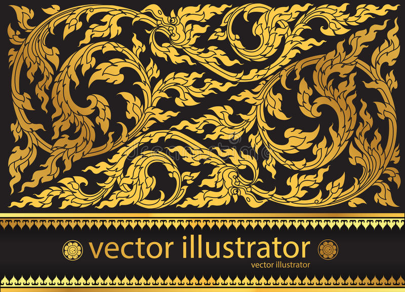 Традиция картины вектора тайская стильная бесплатная иллюстрация