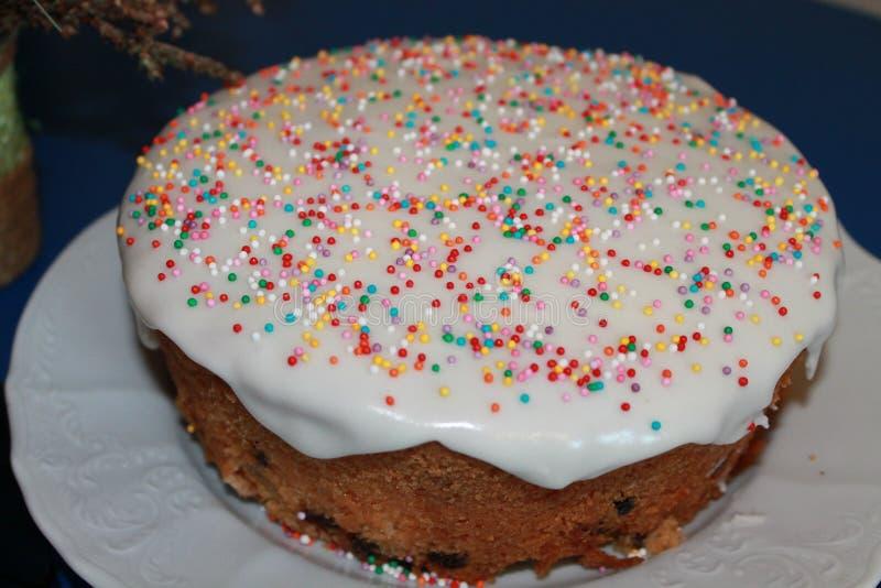 традиция пасхи торта хлеба декоративная стоковое изображение