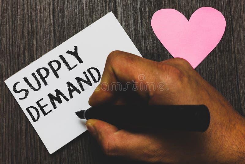 Требование поставки сочинительства текста почерка Отношение смысла концепции между количеством доступным и, который хотят рукой ч стоковое изображение rf