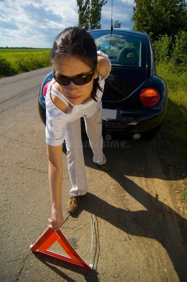 тревога автомобиля стоковая фотография rf