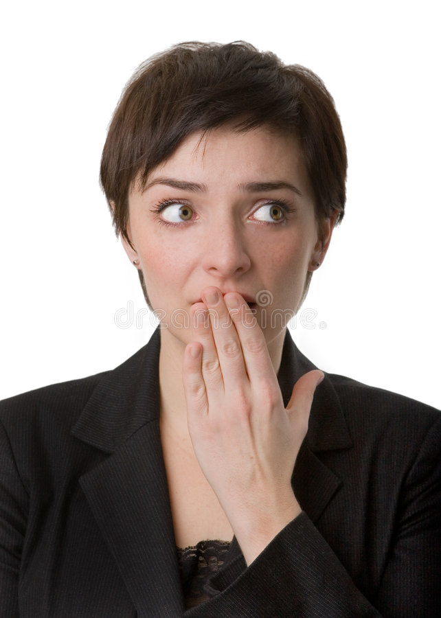 тревожиться женщины стоковые фотографии rf