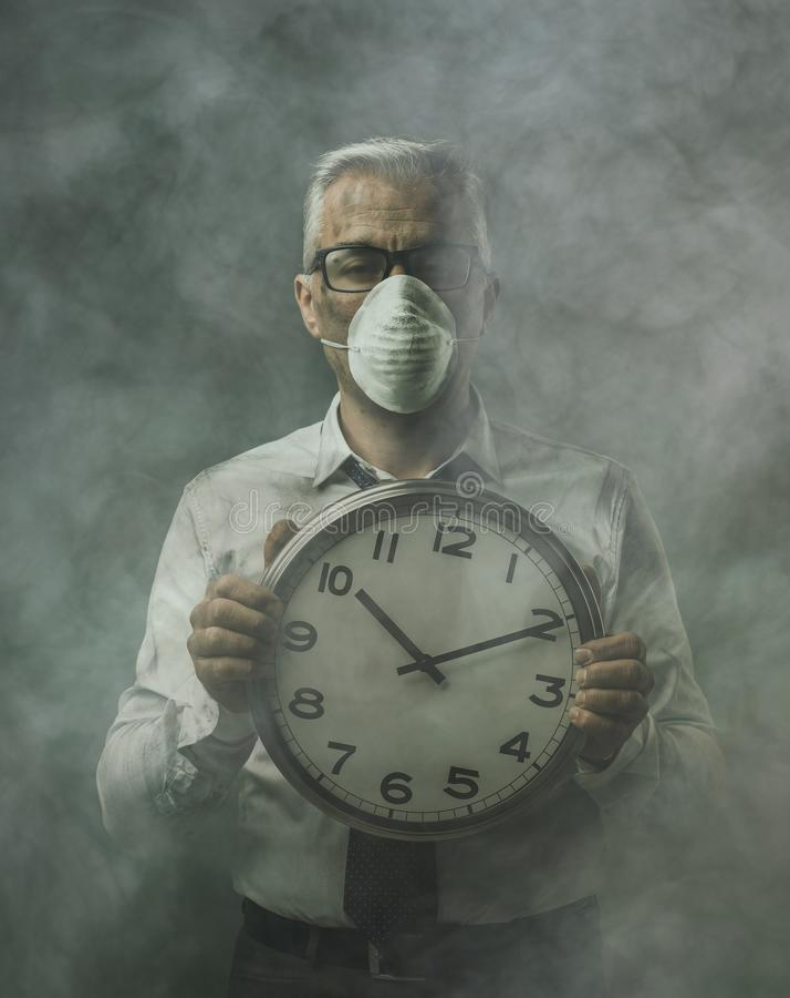 Тревожное загрязнение воздуха стоковая фотография