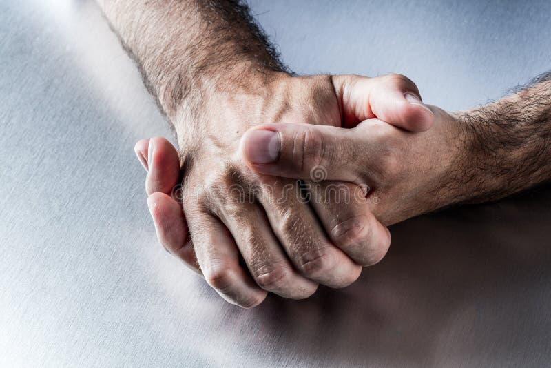 Тревожность или замешательство в связи жеста рукой и языке жестов стоковые фото