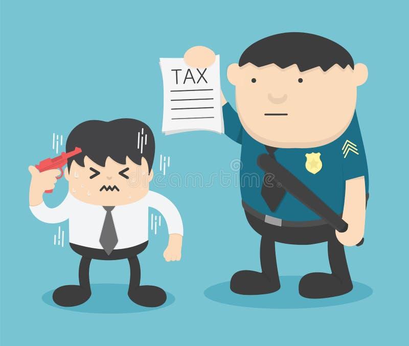 Тревожность мужских бизнесменов которые таксируются назад иллюстрация вектора