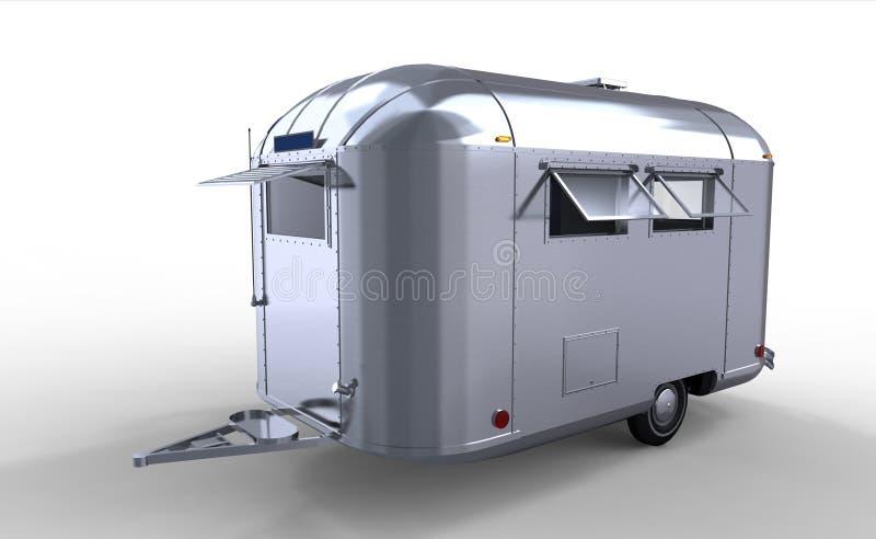 трейлер каравана самомоднейший серебряный бесплатная иллюстрация