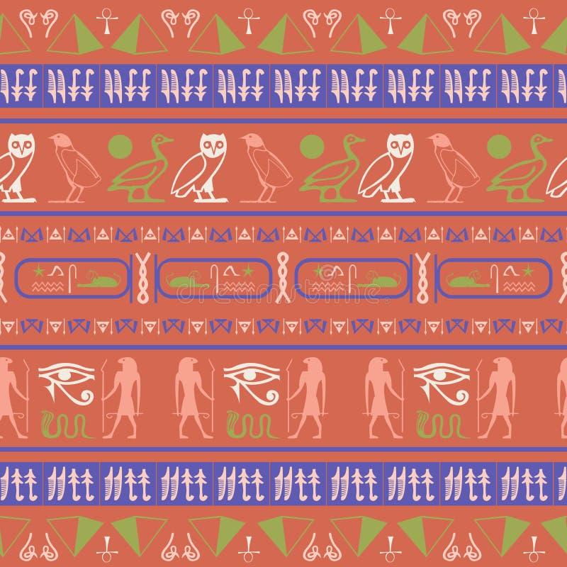 Тренди-египтяне-мольбы прочно узорились бесплатная иллюстрация
