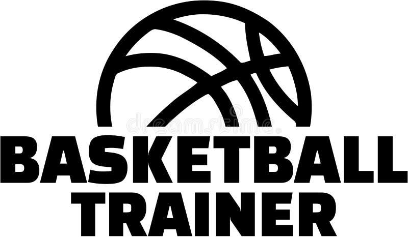 Тренер баскетбола с шариком иллюстрация вектора