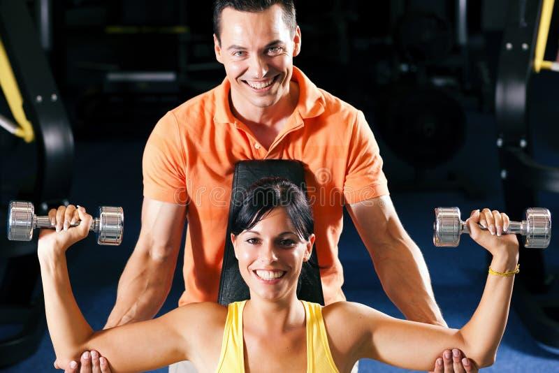 тренер гимнастики личный стоковые изображения