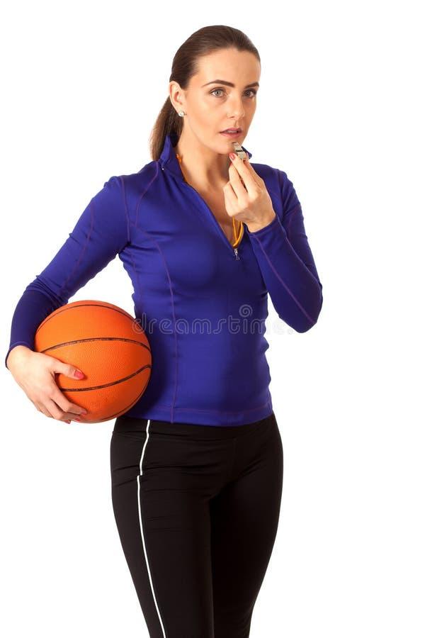 Тренер по баскетболу женщин стоковые изображения rf
