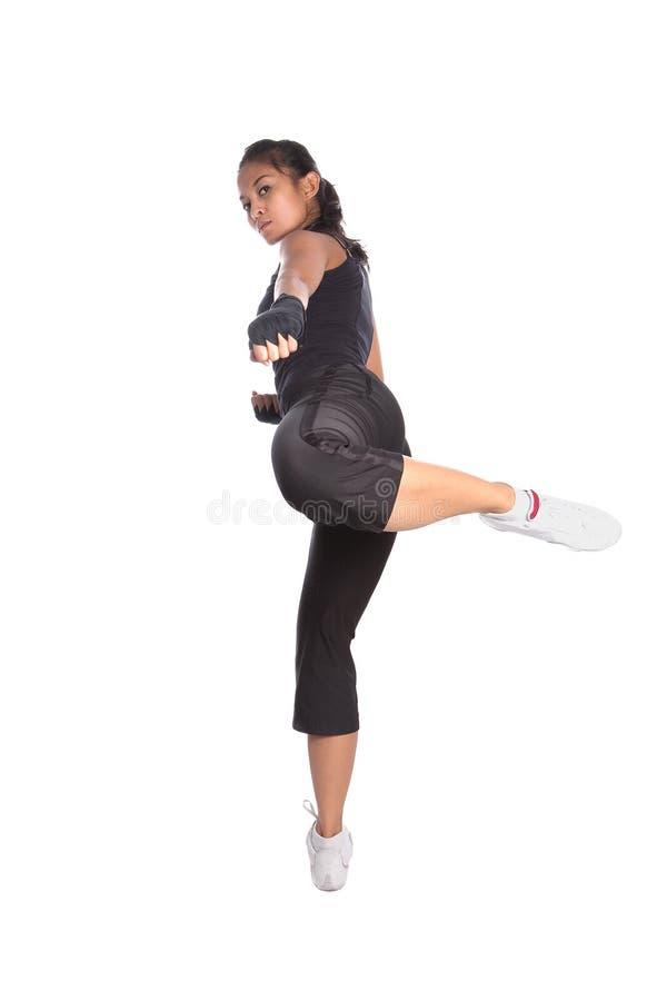 тренер представления пригодности бой стоковое изображение rf