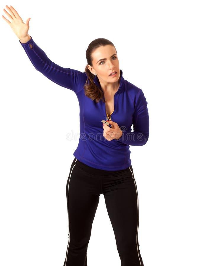 Тренер спорт женщин стоковая фотография rf