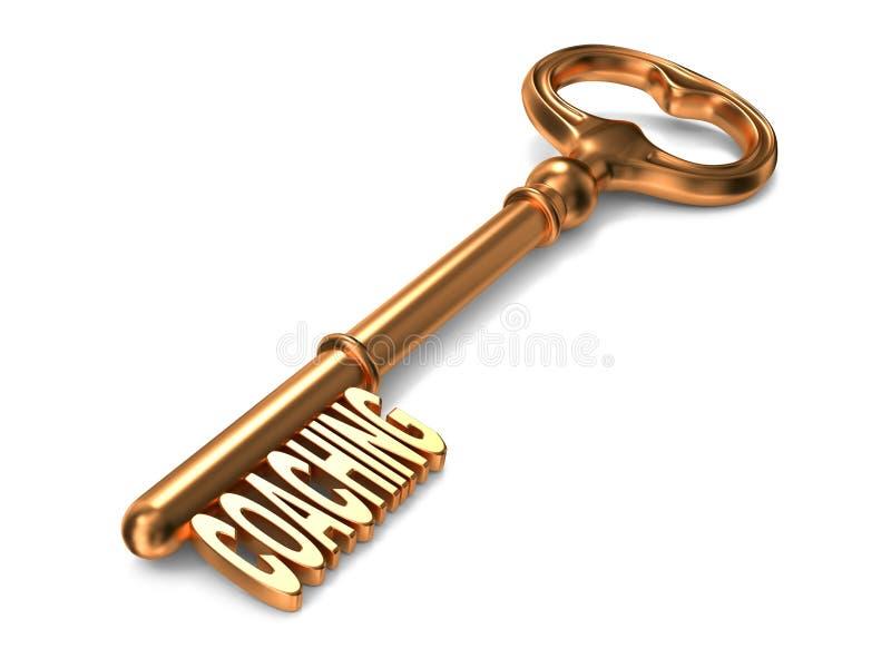 Тренировать - золотой ключ. иллюстрация штока