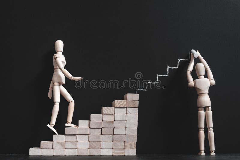 Тренировать роста карьеры поддержки мотивации стоковые фото