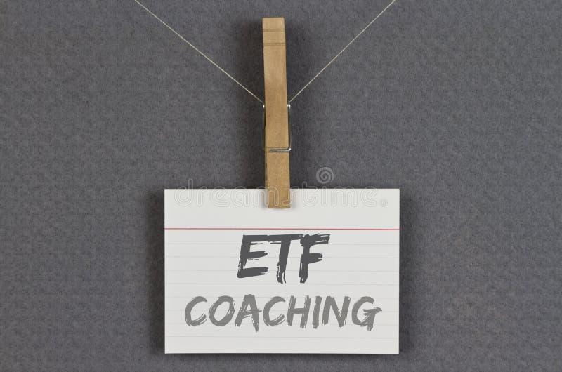 Тренировать ETF стоковые фотографии rf