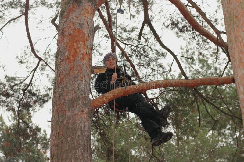 Тренировка альпиниста стоковая фотография rf