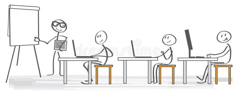 Тренировка дела иллюстрации вектора иллюстрация штока