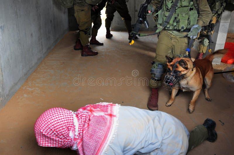 Тренировка израильской армии - городская война IDF стоковое фото rf