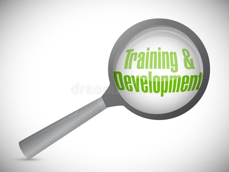 тренировка и развитие под обзором иллюстрация штока