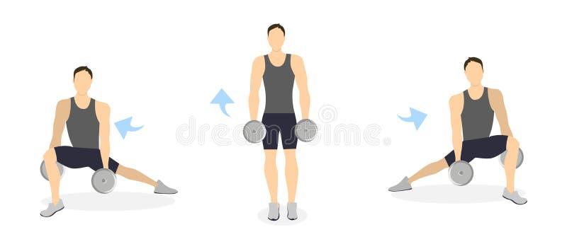Тренировка ног для людей иллюстрация вектора
