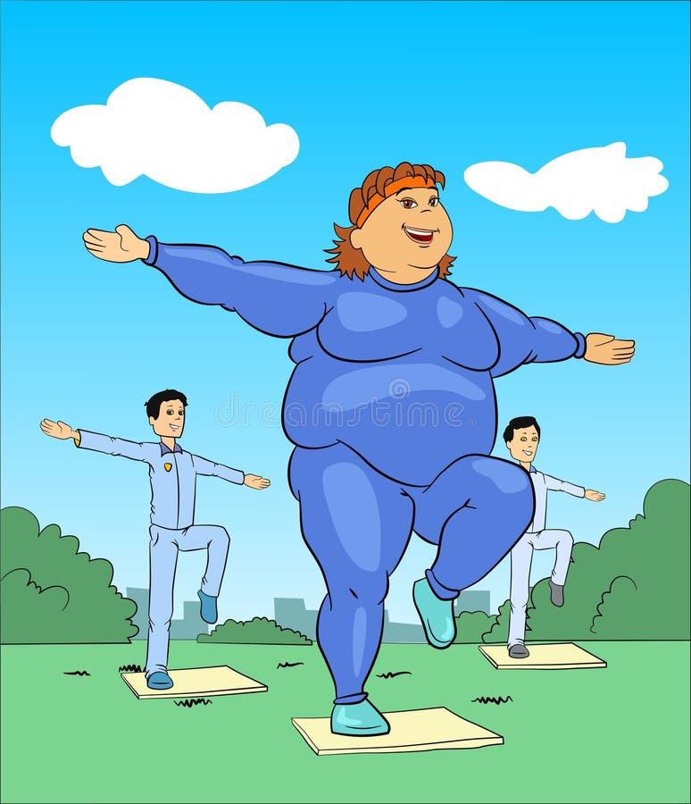 тренировка повелительницы aerobics иллюстрация вектора