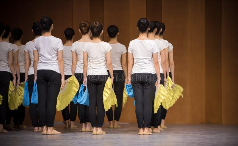 Тренировка позиции танца цветка 1-National вентилятора стоковое фото rf