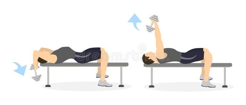 Тренировка руки для людей бесплатная иллюстрация