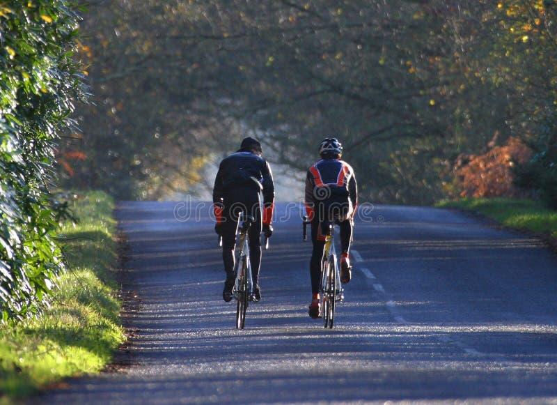 тренировка спорта езды цикла Стоковые Изображения