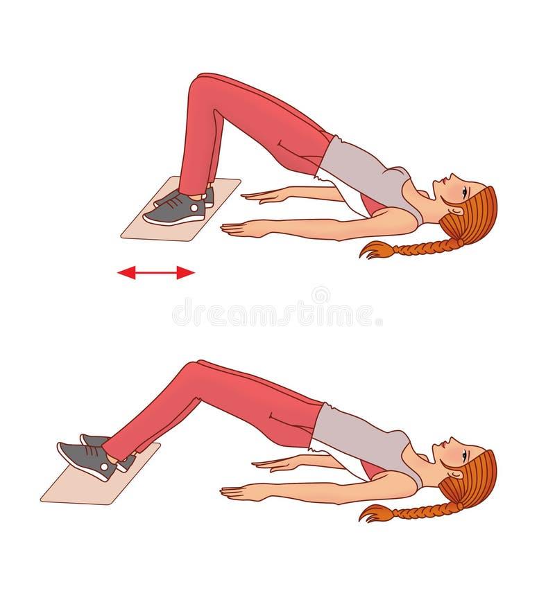 Тренировка с полотенцем иллюстрация штока