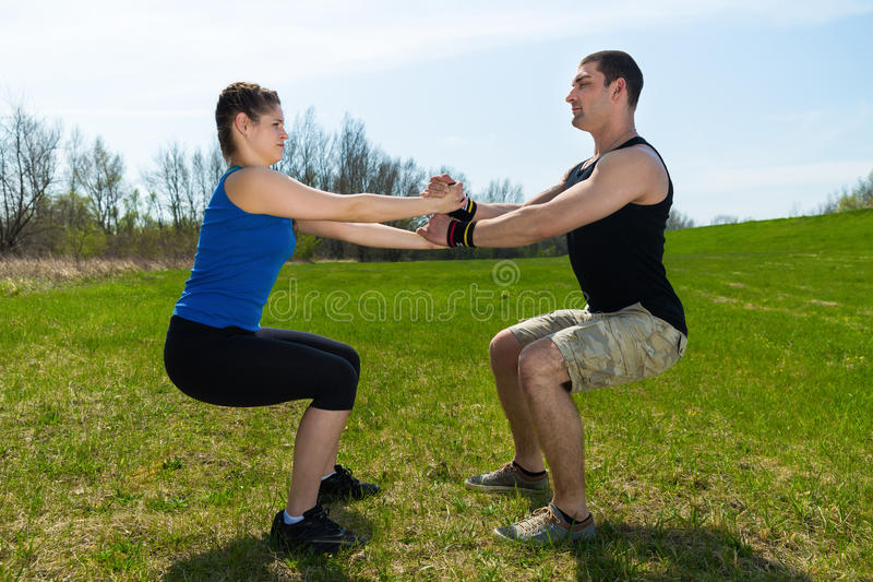 Тренировка фитнеса стоковое фото