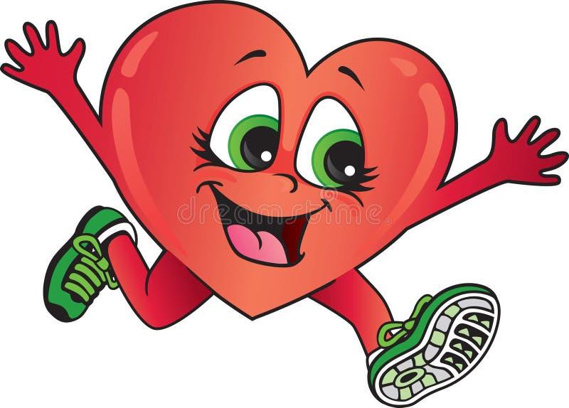 Здоровый ход сердца иллюстрация вектора