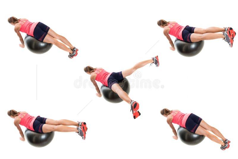 Тренировка шарика стабильности стоковое изображение