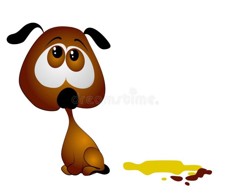 тренировка щенка poop pee дома иллюстрация вектора