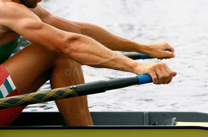 тренировка rower стоковое фото rf