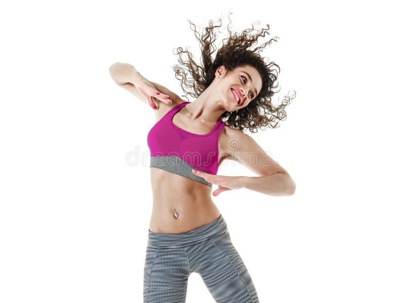 Тренировки фитнеса танцев танцора женщины стоковое изображение rf